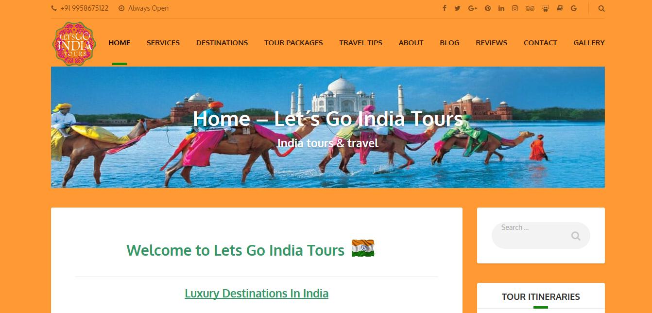 Lets Go India Tours (Portfolio)