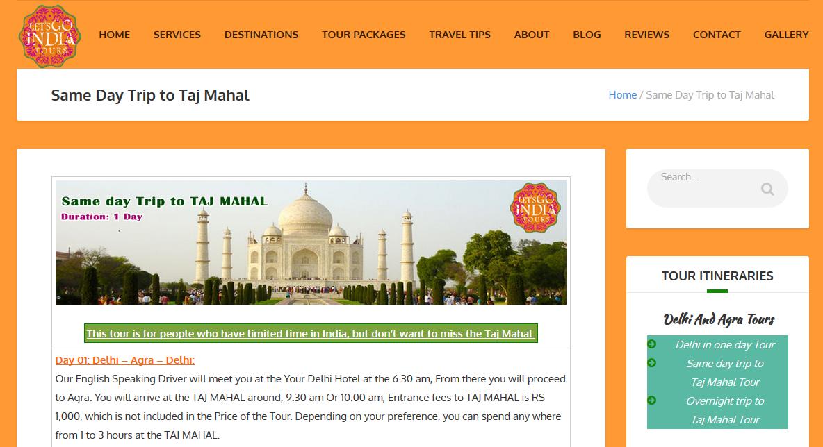 Lets Go India Tours